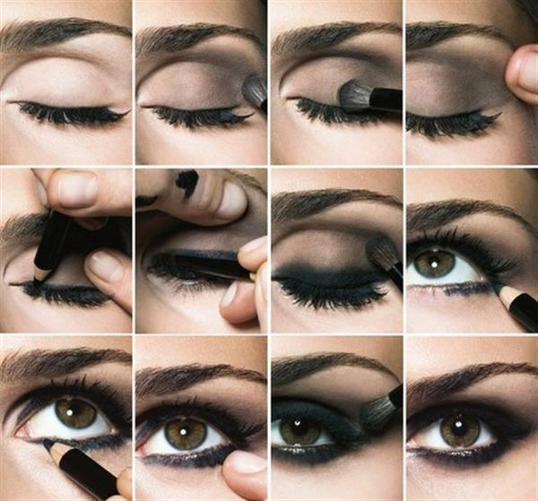 Amazing Black Brown Smokey Eye Make Up Ideas Looks Images 2 Amazing Black & Brown Smokey Eye Make Up Ideas, Looks & Images