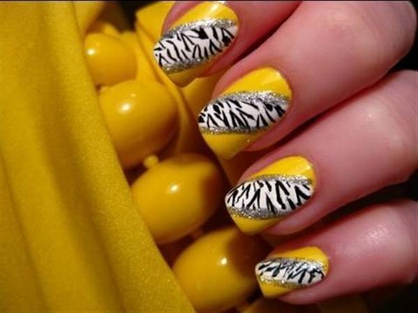 Creative Yet Cute Yellow Nail Art Designs-4