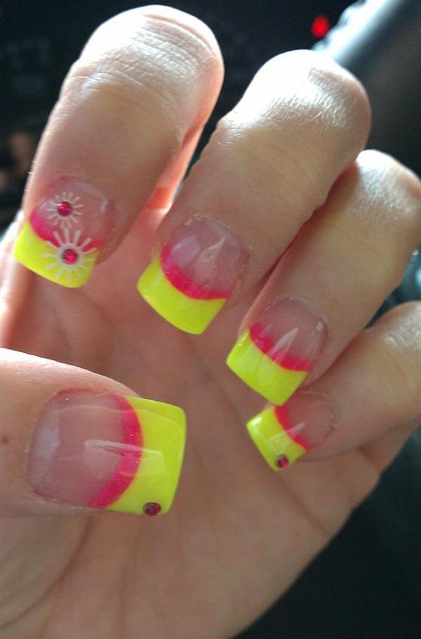 Creative Yet Cute Yellow Nail Art Designs-9