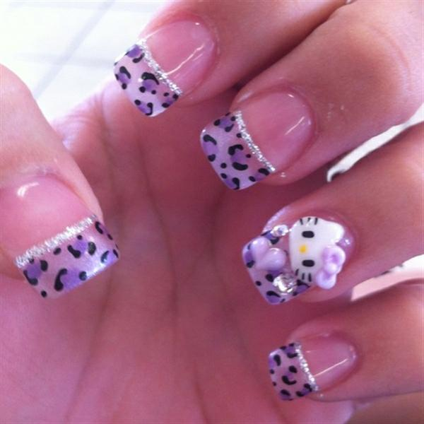 Hello kitty nail designs for long nails