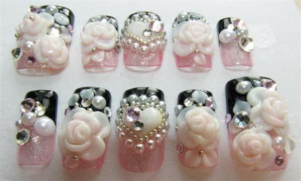 Elegant And Beautiful Japanese 3D Nail Art Designs, Supplies And Gallery-12