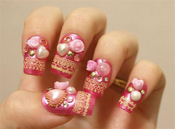 Elegant And Beautiful Japanese 3D Nail Art Designs, Supplies And Gallery-3