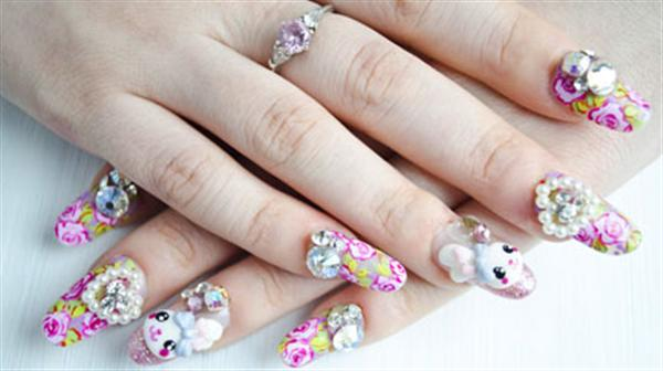 Elegant And Beautiful Japanese 3D Nail Art Designs, Supplies And Gallery-7