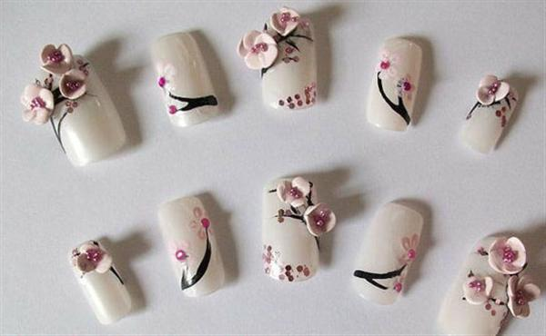 Elegant And Beautiful Japanese 3D Nail Art Designs, Supplies And Gallery-8