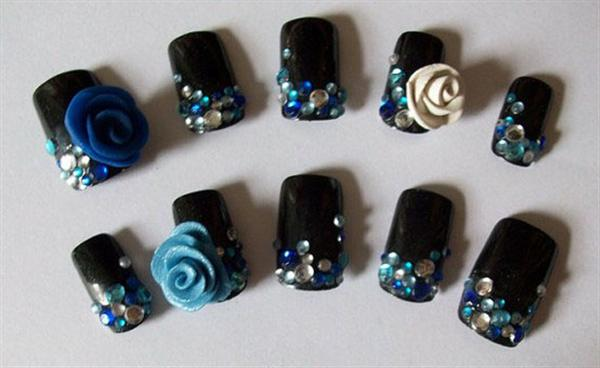 Elegant And Beautiful Japanese 3D Nail Art Designs, Supplies And Gallery-9