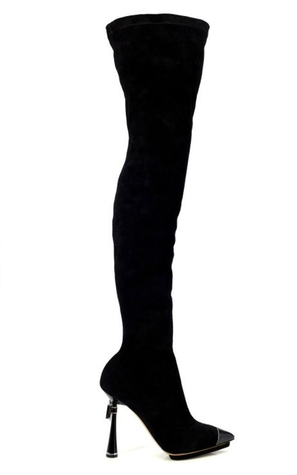Leather Stiletto Long boots Thigh High Heels For Women 4 Leather Stiletto Long boots, Thigh High Heels For Women
