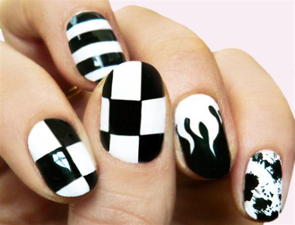 Simple Black Nail Art Designs & Supplies For Beginners-1