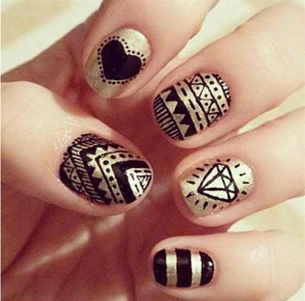 Simple Nail Polish Designs For Beginners Black