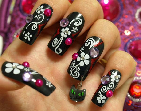 Black Nail Art Designs Supplies For Beginners 3 Simple Black Nail Art ...