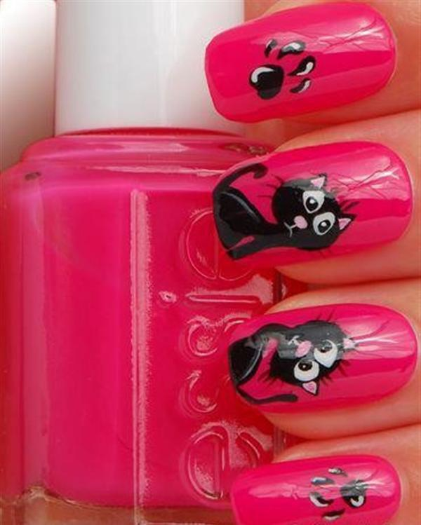 Superb Yet Creative Pink Nail Art Designs And Galleries For Beginners-1