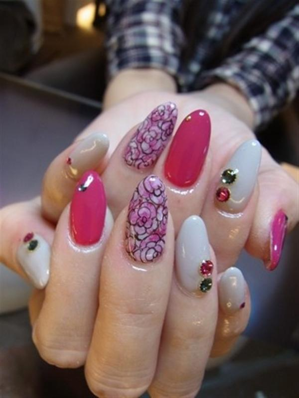 Superb Yet Creative Pink Nail Art Designs And Galleries For Beginners-4