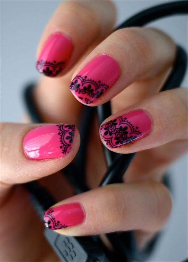 Superb Yet Creative Pink Nail Art Designs And Galleries For Beginners-9