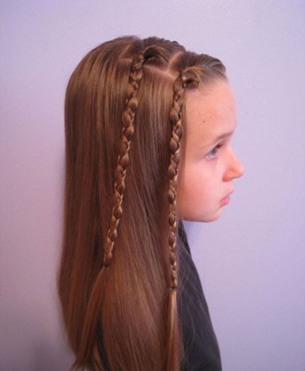 Cool, Fun & Unique Kids Braid Designs -Simple & Best Braiding Hairstyles For Kids 2012-19