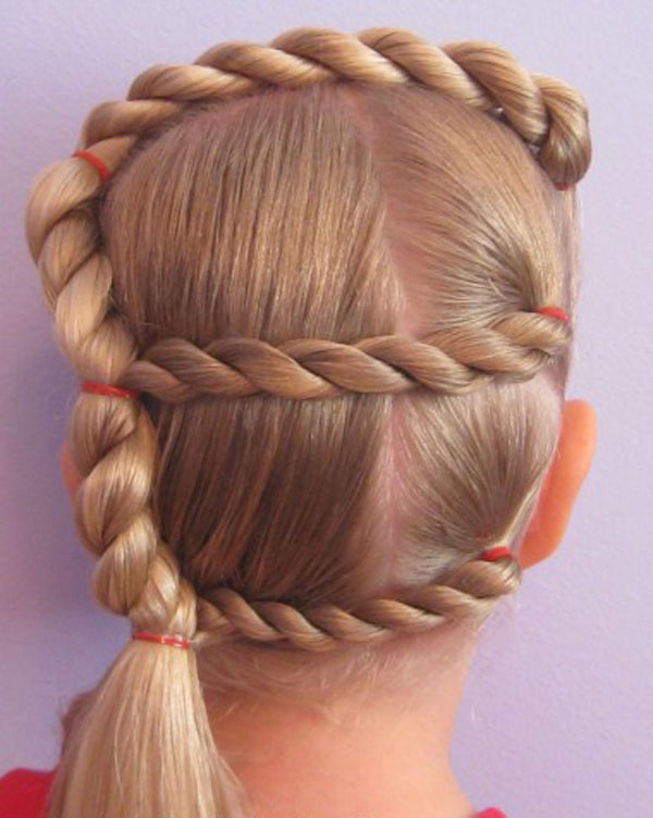 Cool, Fun & Unique Kids Braid Designs -Simple & Best Braiding Hairstyles For Kids 2012-32