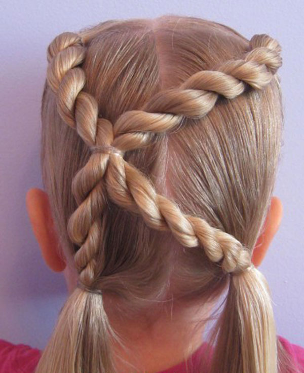 Cool, Fun & Unique Kids Braid Designs -Simple & Best Braiding Hairstyles For Kids 2012-38