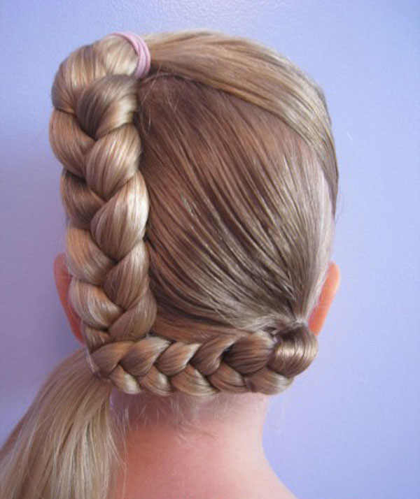 Cool, Fun & Unique Kids Braid Designs -Simple & Best Braiding Hairstyles For Kids 2012-39
