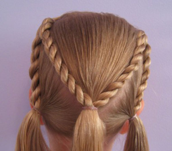 Cool, Fun & Unique Kids Braid Designs -Simple & Best Braiding Hairstyles For Kids 2012-40