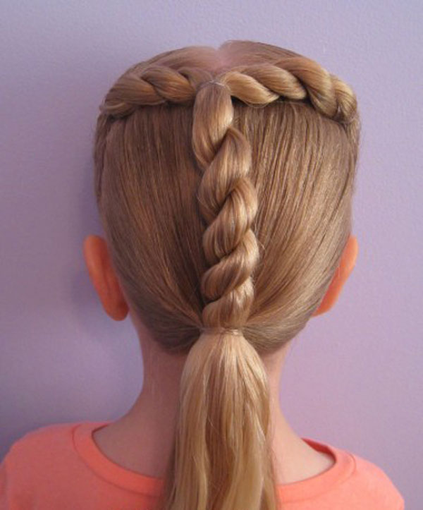 Cool, Fun & Unique Kids Braid Designs -Simple & Best Braiding Hairstyles For Kids 2012-47
