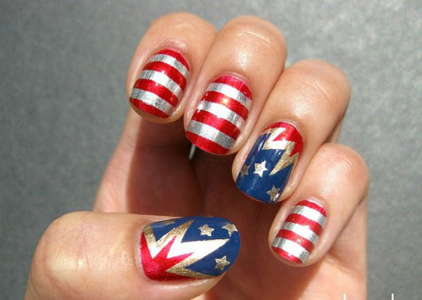 Nail Art Designs Supplies Galleries For Beginners 2 4th Of July Nail ...