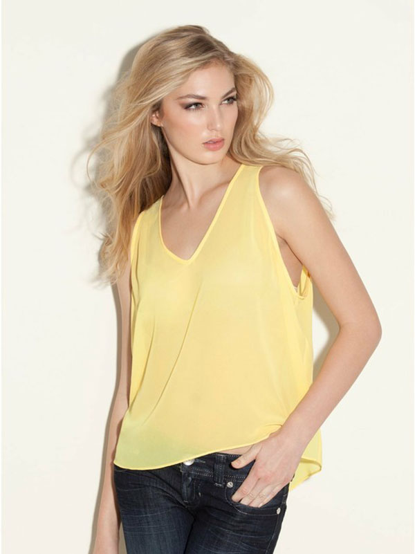Simple Stylish Sleeveless Shirts Tops For Girls 13 Simple & Stylish Sleeveless Shirts & Tops For Girls