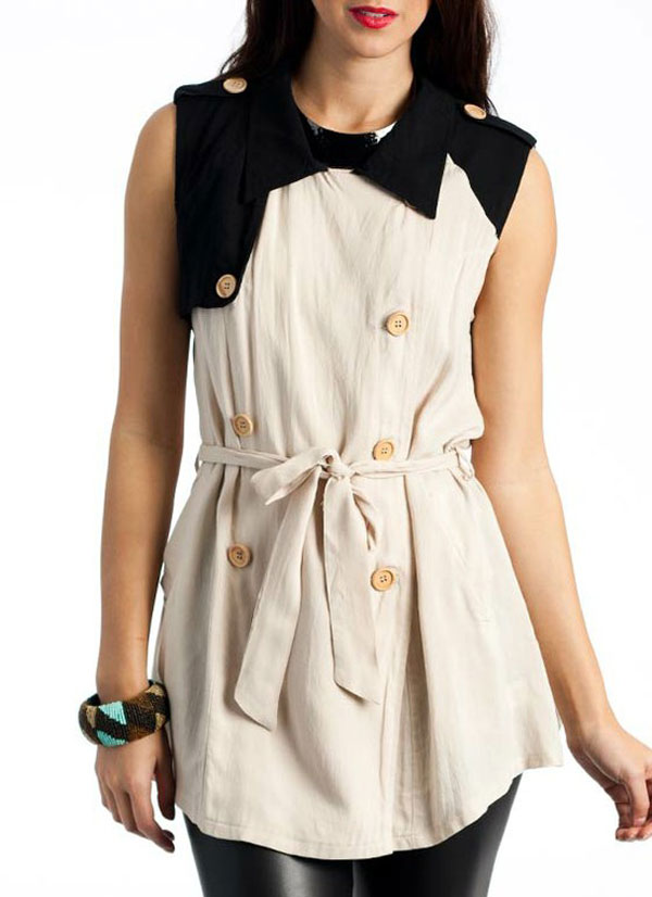 Simple & Stylish Sleeveless Shirts & Tops For Girls-16
