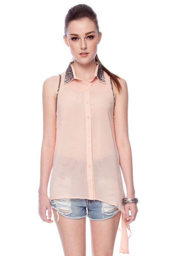 Simple & Stylish Sleeveless Shirts & Tops For Girls-2