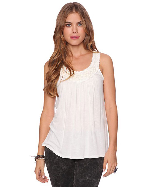 Simple & Stylish Sleeveless Shirts & Tops For Girls-5