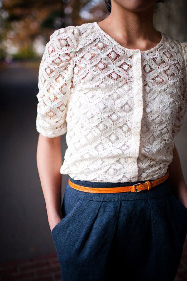 Simple Yet Stylish Lace Tops & Shirts For Girls-10