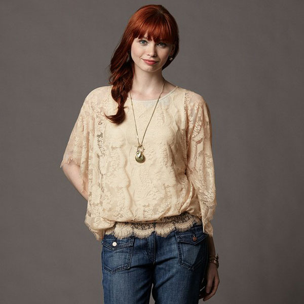 Simple Yet Stylish Lace Tops & Shirts For Girls-2