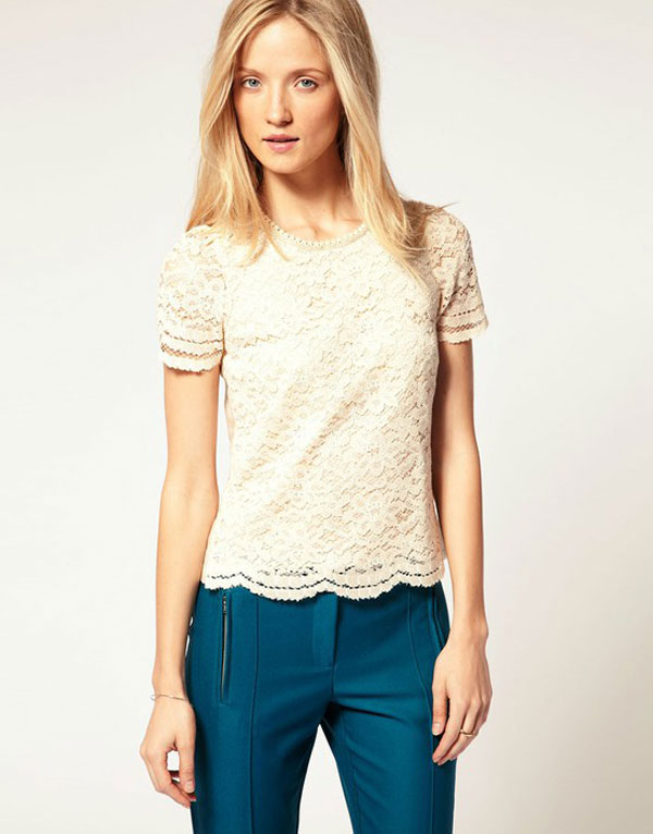 Simple Yet Stylish Lace Tops & Shirts For Girls-4