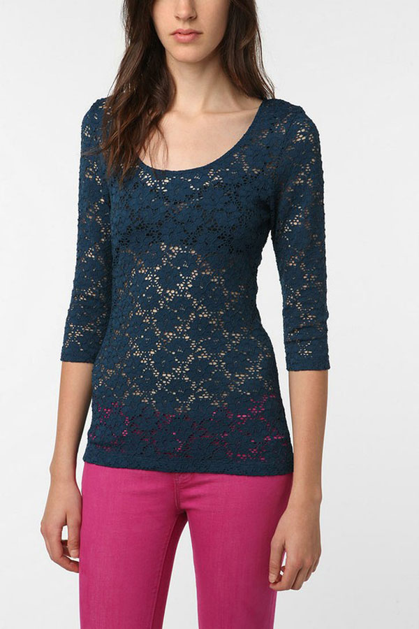 Simple Yet Stylish Lace Tops & Shirts For Girls-5