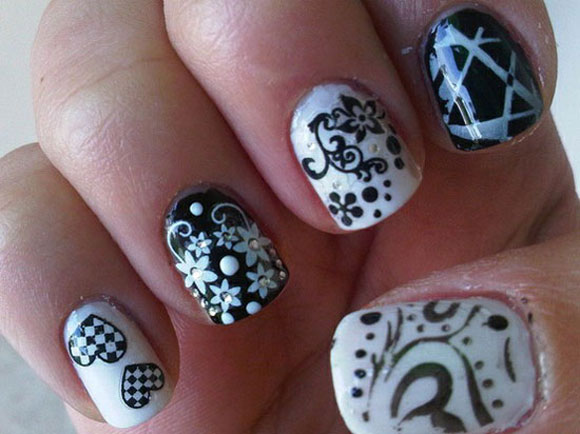 15-Best-Simple-Black-Nail-Art-Designs-Supplies-Galleries-For-Beginners-6