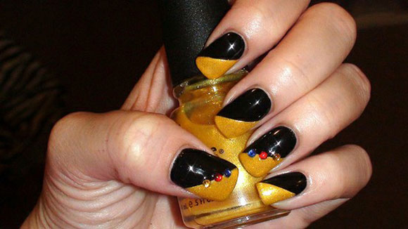 15-Best-Simple-Black-Nail-Art-Designs-Supplies-Galleries-For-Beginners-8