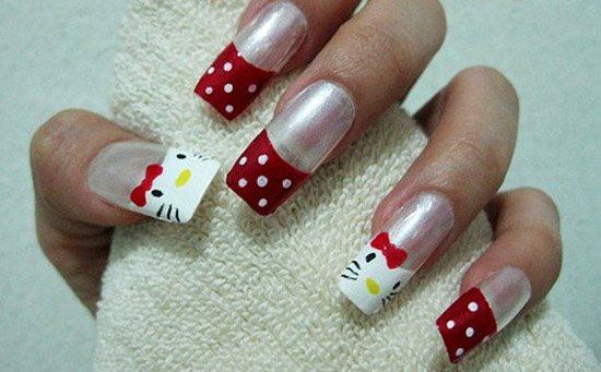 How To Make Hello Kitty Nail Polish To Bend Light