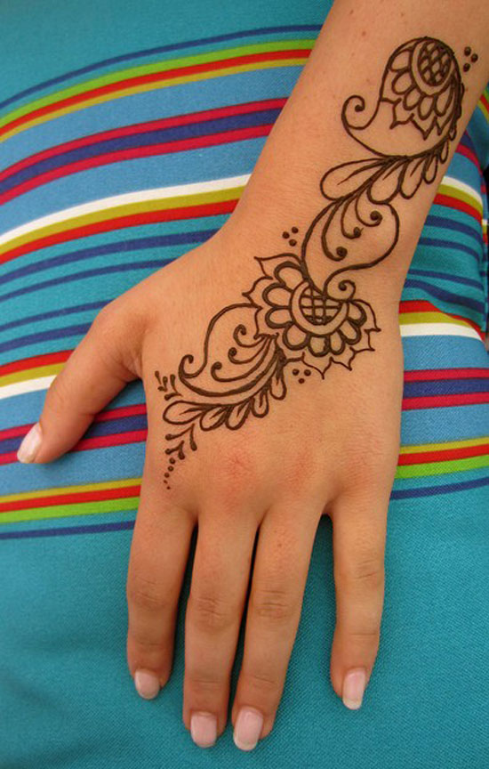 30 Very Simple Easy Best Mehndi Patterns For Hands Feet 2012 Henna Designs For Beginners 110 30 Very Simple, Easy & Best Mehndi Patterns For Hands & Feet 2012 | Henna Designs For Beginners