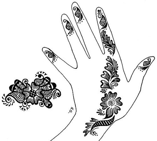 30 Very Simple Easy Best Mehndi Patterns For Hands Feet 2012 Henna Designs For Beginners 30 30 Very Simple, Easy & Best Mehndi Patterns For Hands & Feet 2012 | Henna Designs For Beginners
