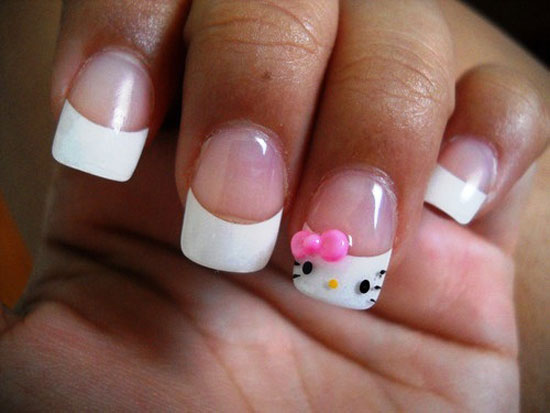 20 + Cute Hello Kitty Nail Art Designs, Supplies & Stickers | Girlshue