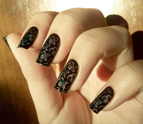 20-Easy-Simple-Black-Nail-Art-Designs-Supplies-Galleries-For-Beginners-10