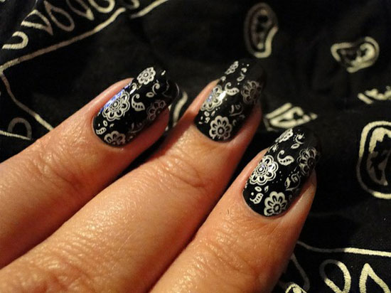 20-Easy-Simple-Black-Nail-Art-Designs-Supplies-Galleries-For-Beginners-12