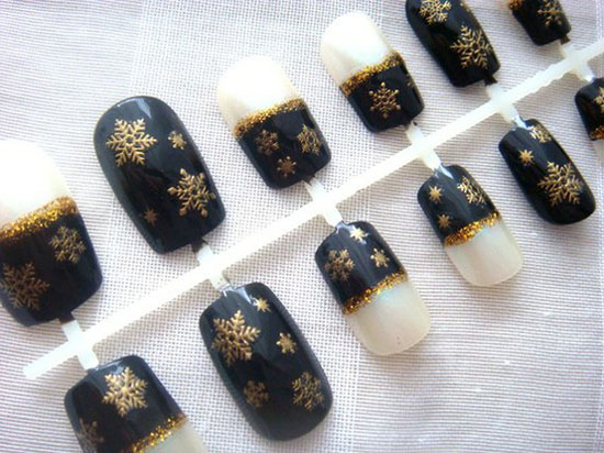 20-Easy-Simple-Black-Nail-Art-Designs-Supplies-Galleries-For-Beginners-17