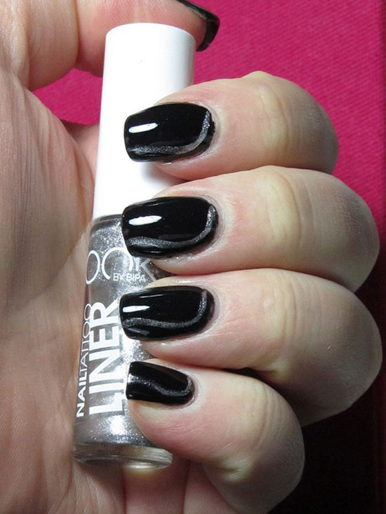 20-Easy-Simple-Black-Nail-Art-Designs-Supplies-Galleries-For-Beginners-2