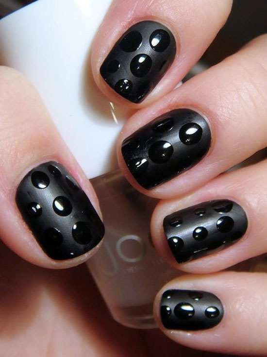 Nail Designs In Black Nail Art Designs