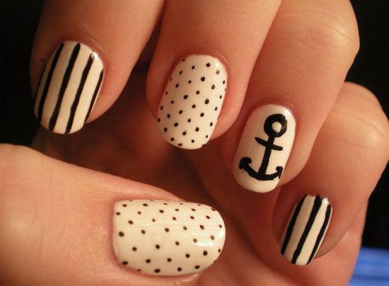 20-Easy-Simple-Black-Nail-Art-Designs-Supplies-Galleries-For-Beginners-8