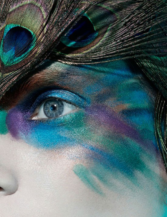 20 Peacock Feather Inspired Eye Make Up Designs Ideas Looks 1 20 + Peacock Feather Inspired Eye Make Up Designs, Ideas & Looks