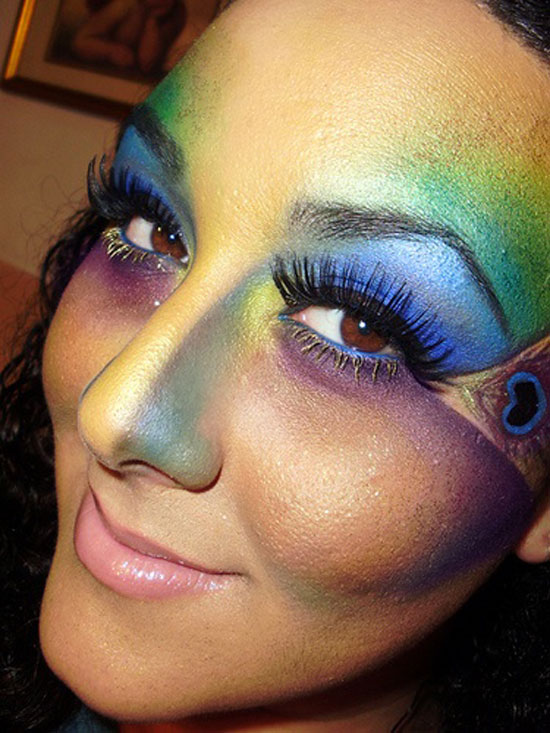 20 Peacock Feather Inspired Eye Make Up Designs Ideas Looks 10 20 + Peacock Feather Inspired Eye Make Up Designs, Ideas & Looks