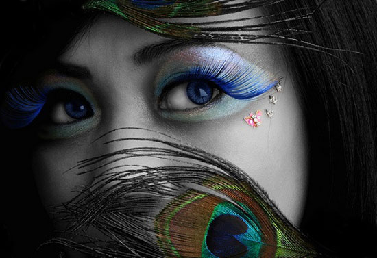 20 Peacock Feather Inspired Eye Make Up Designs Ideas Looks 12 20 + Peacock Feather Inspired Eye Make Up Designs, Ideas & Looks