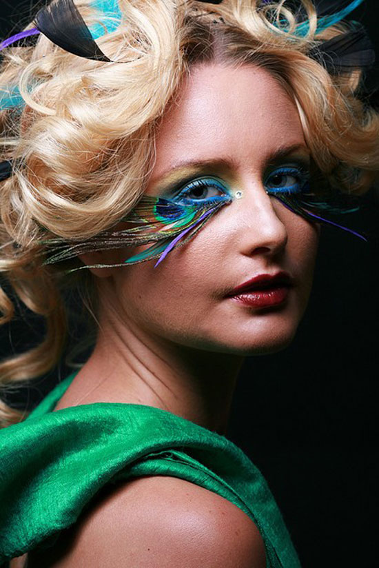 20 Peacock Feather Inspired Eye Make Up Designs Ideas Looks 15 20 + Peacock Feather Inspired Eye Make Up Designs, Ideas & Looks