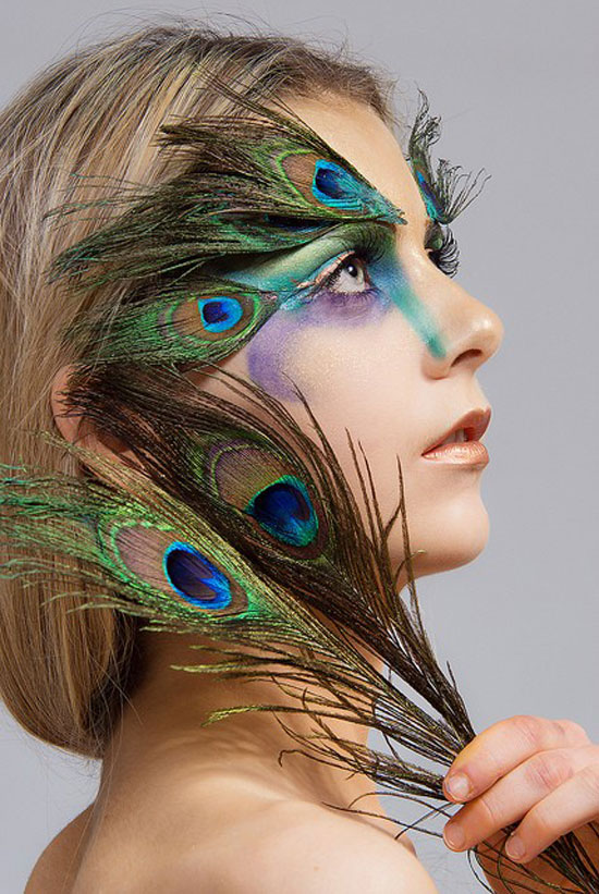 20 Peacock Feather Inspired Eye Make Up Designs Ideas Looks 16 20 + Peacock Feather Inspired Eye Make Up Designs, Ideas & Looks