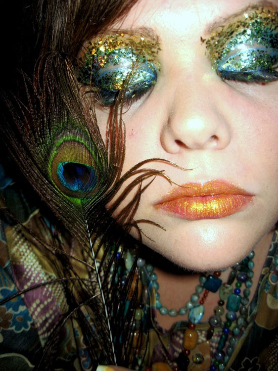 20 Peacock Feather Inspired Eye Make Up Designs Ideas Looks 17 20 + Peacock Feather Inspired Eye Make Up Designs, Ideas & Looks