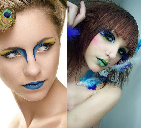 20 Peacock Feather Inspired Eye Make Up Designs Ideas Looks 18 20 + Peacock Feather Inspired Eye Make Up Designs, Ideas & Looks